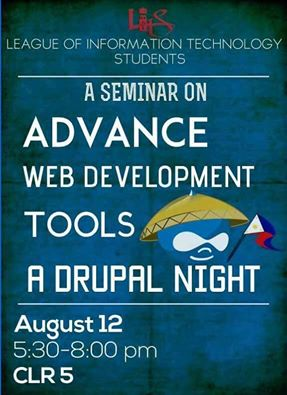 i-Build and Drupal Pilipinas in Drupal Night of the League of Information Technology Students, University of the East (UE-Caloocan)!