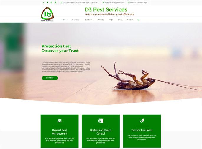 Best website design for pest control services in Metro Manila, Philippines