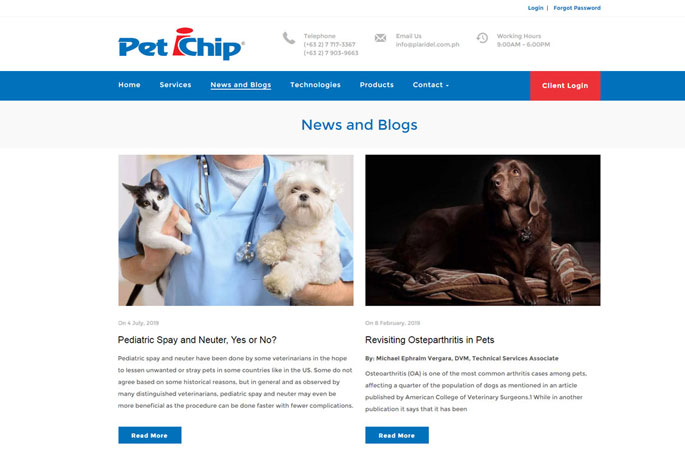 Online pet and animal system and database