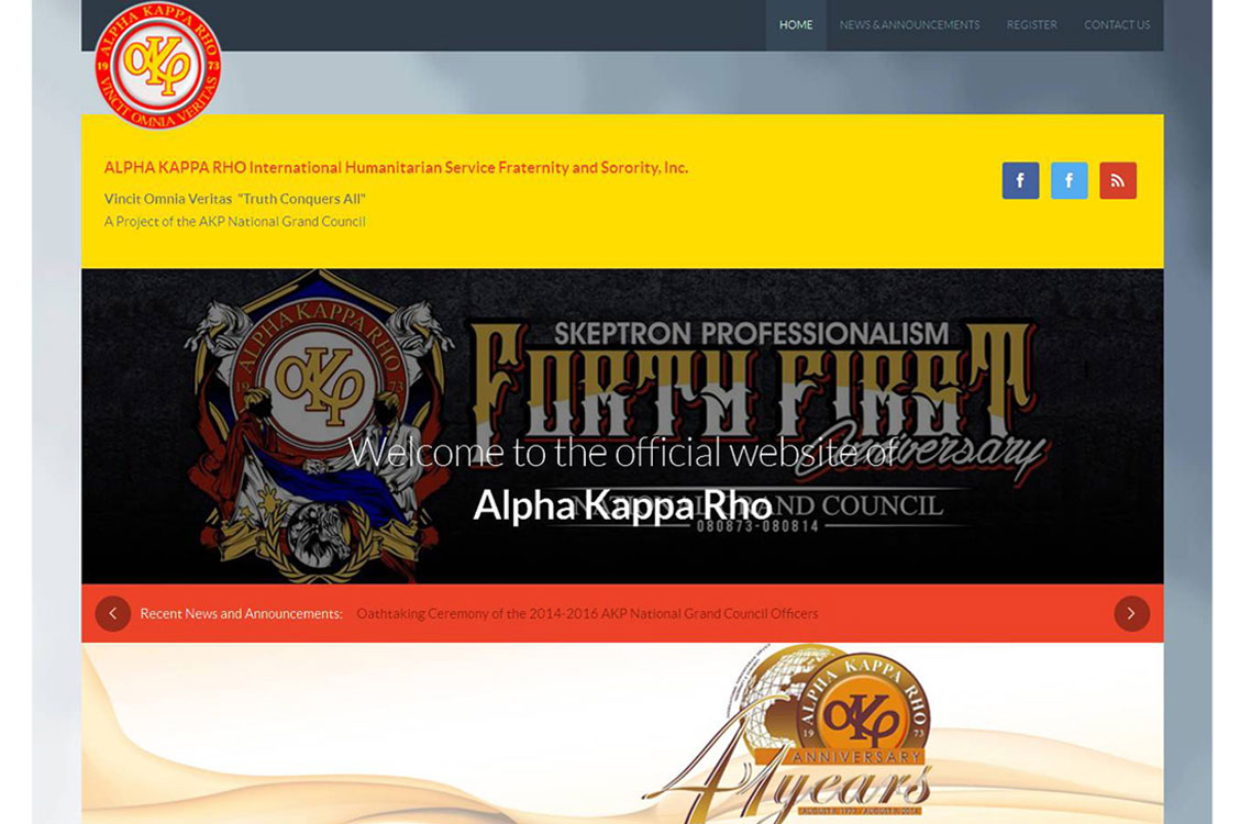 Alpha Kappa Rho (AKRHO) Fraternity and Humanitarian Services Website