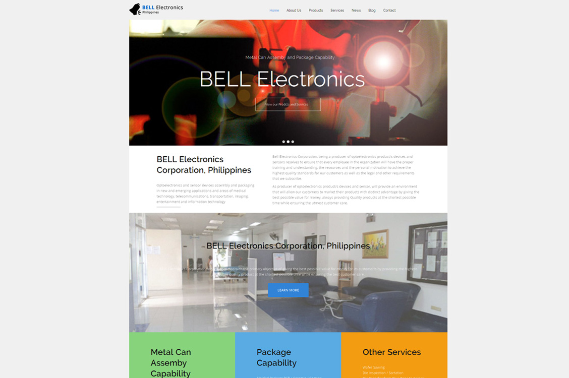 BELL Electronics Corporation, Laguna, Philippines, Drupal Web Design and Development