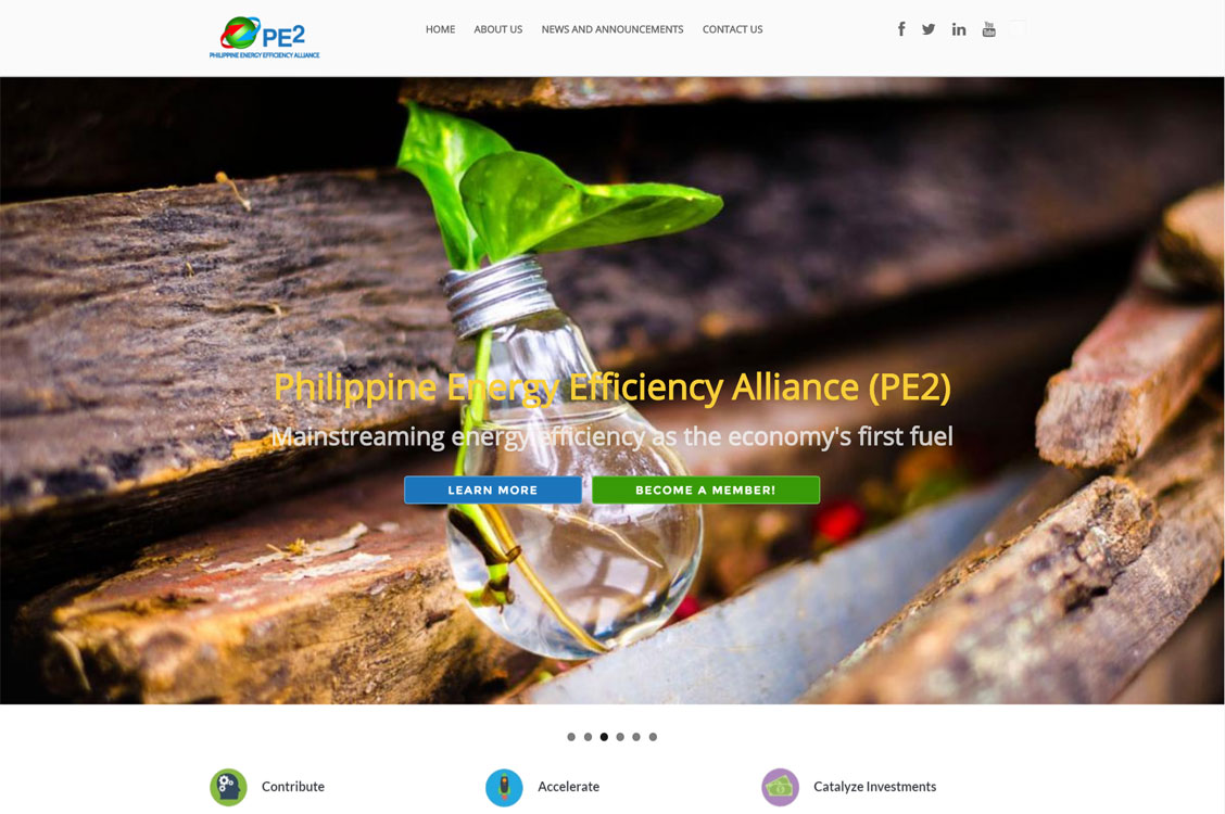 Philippine Energy Efficiency Alliance, Inc (PE2) Drupal Website