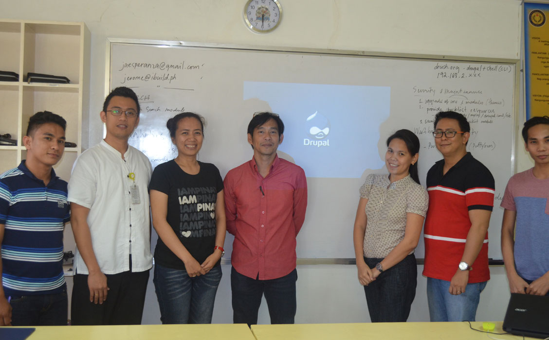 Drupal basic and advance training in Tacloban, Leyte Normal University (LNU)