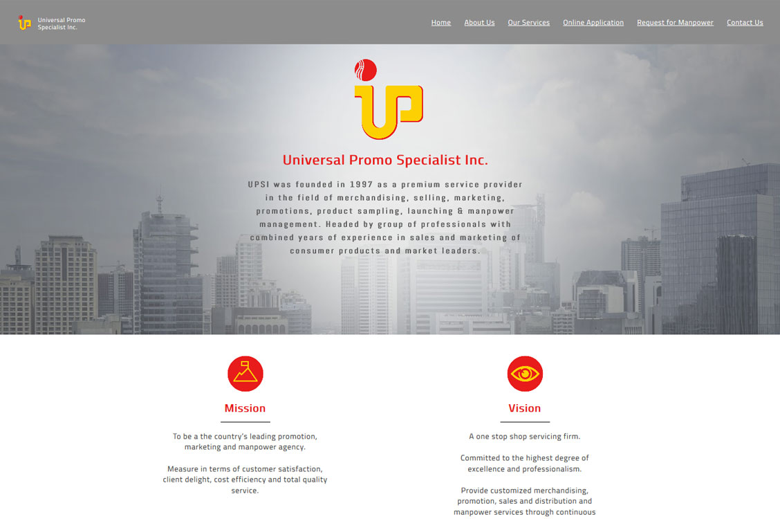 Webhosting for Universal Promo Specialists, Inc.